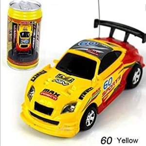 New RC Car In a Can Mini Racer Yellow